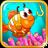 Baby fishing icon