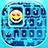 Neon Blue Emoji Keyboard 1.0