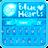 GO Keyboard Blue Hearts Theme 1.0.1
