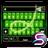 SlideIT Green Neon skin 4.0 APK