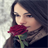 Girl with Rose Lock Screen 1.1