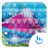 Theme x TouchPal Glass Colorful Waves 3.0