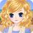 Anime girl dress up and makeup icon